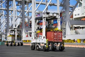 Kalmar automated shuttle carriers