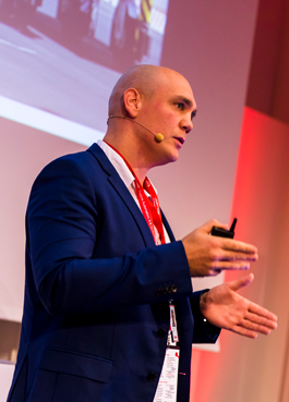Mika Seppä speaking at Kalmar Explore Automation 2019