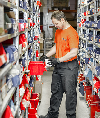 Kalmar spare parts warehouse