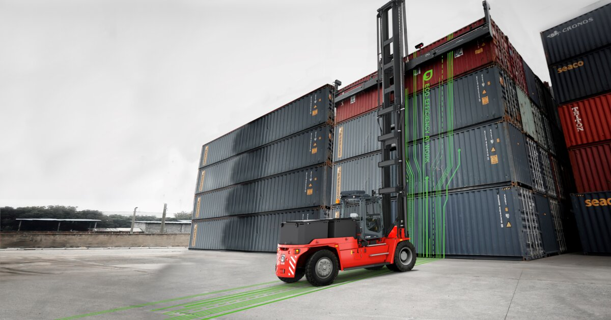 Kalmar's electric empty container handlers
